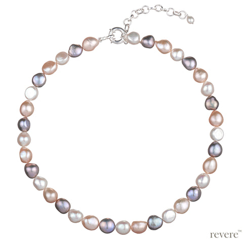 Peaches Necklace | Baroque Pearl | Sterling Silver