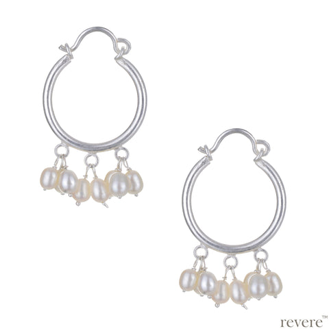 Airlia Earrings | Pearl | Sterling Silver