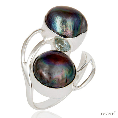 Pearl With Topaz Ring