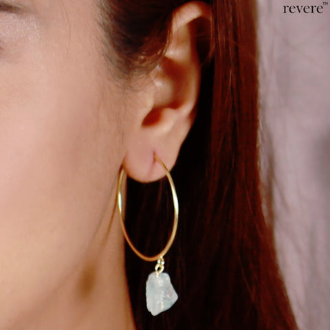 Insta 07.08.18 Earrings | Aquamarine | Gold plated | Sterling Silver
