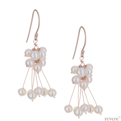 Amaranta Earrings | Pearl | Rose Gold | Sterling Silver