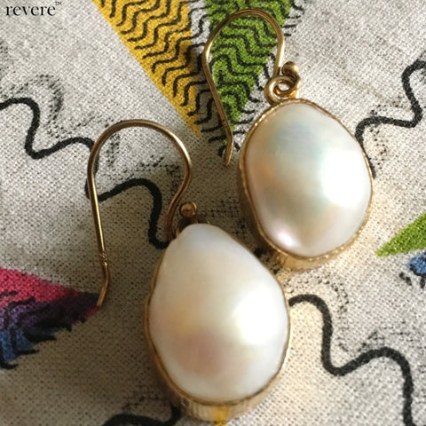 Ambily Earrings | Baroque Pearl | Gold Plated | Sterling Silver