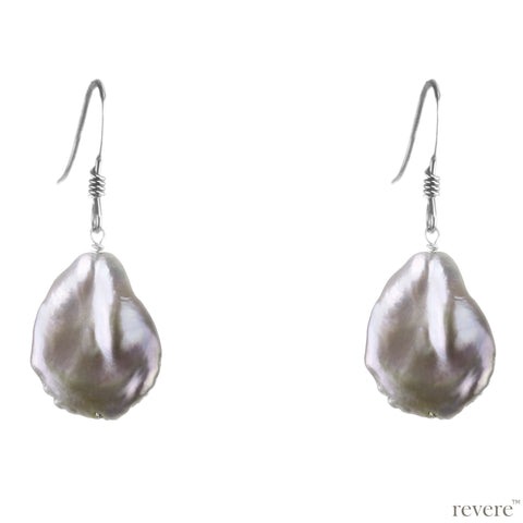 Glisten Earrings | Keshi Pearl | Sterling Silver