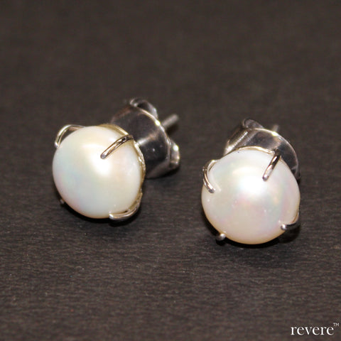 Flawless large single fresh water pearls on sterling silver.. the resonance earrings are a perennial must have in every jewellery box.