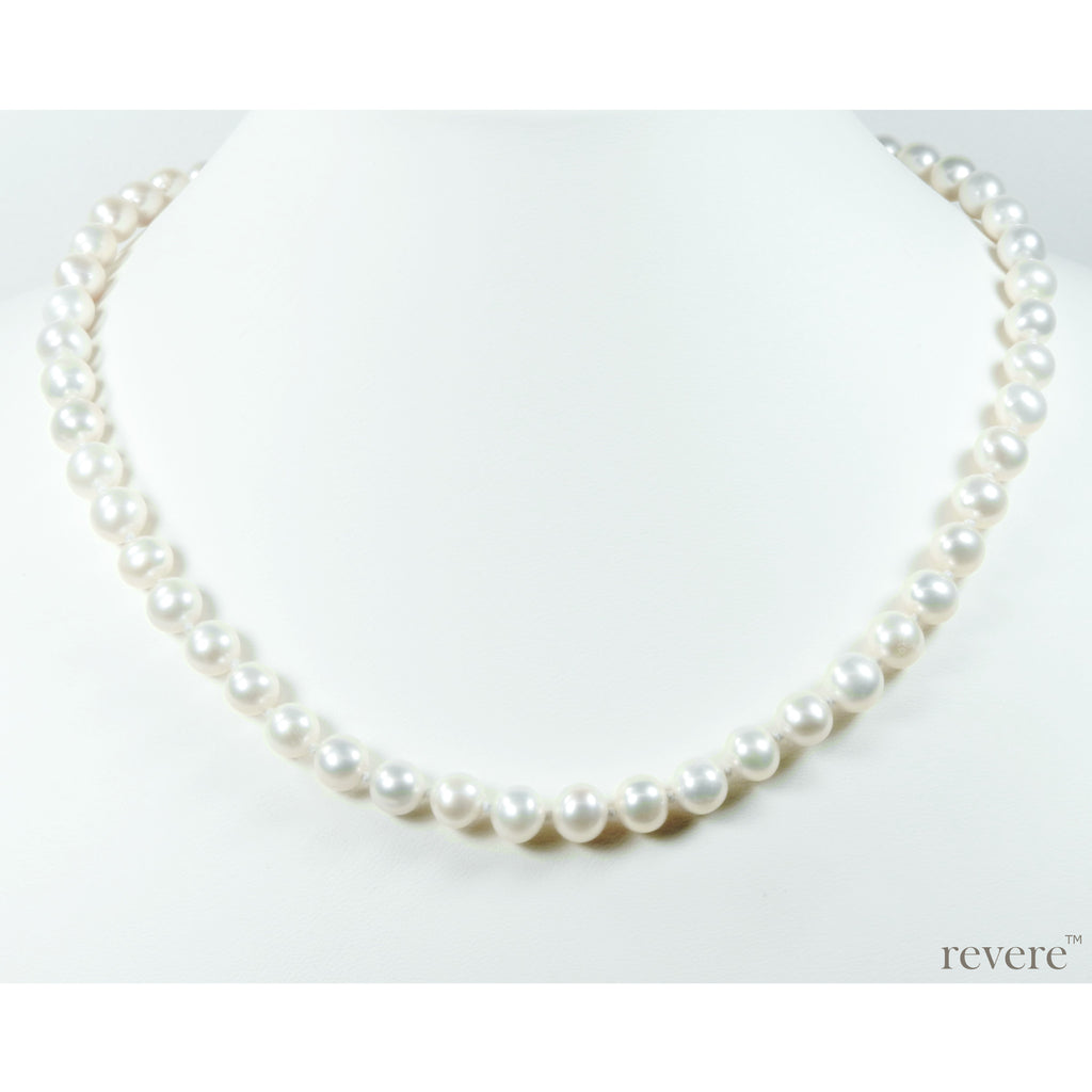 sophistique classic single strand white AAA grade pearl necklace for day wear, evening wear and special occasions
