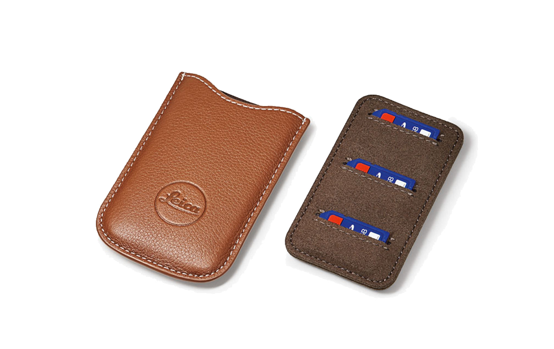 quality design 6ea1a dbe68 SD Card & Credit Card Holder, leather, Cognac