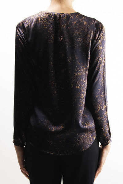 FRESS Gold over Blue Blouse