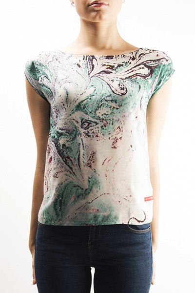 FRESS Marbled Green Top