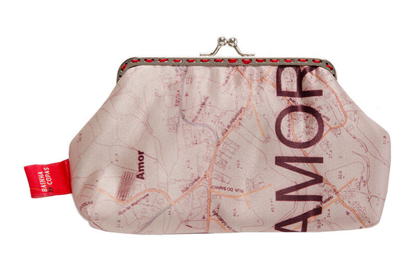 "Bainha de Rua Wallet, Purse & Shoulder Bag ""Mapa do Amor"""