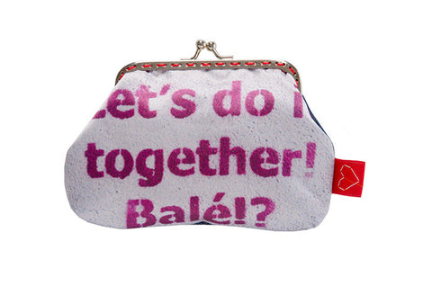 "Bainha de Rua Wallet, Purse & Shoulder Bag ""Let's do it together"""