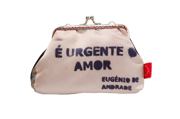 "Bainha de Rua Wallet, Purse & Shoulder Bag ""É urgente o amor"""