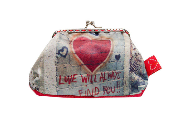 "Bainha de Rua Wallet, Purse & Shoulder Bag ""Love will always find you"""