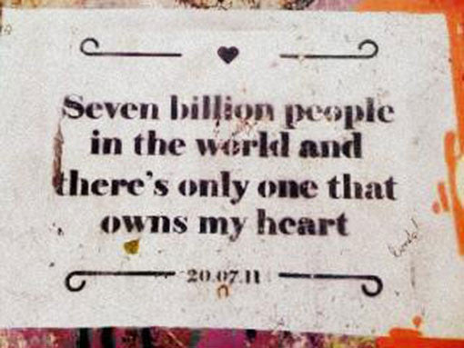 "Bainha de Rua Wallet, Purse & Shoulder Bag ""Seven billion people in the world and there's only one that owns my heart"""
