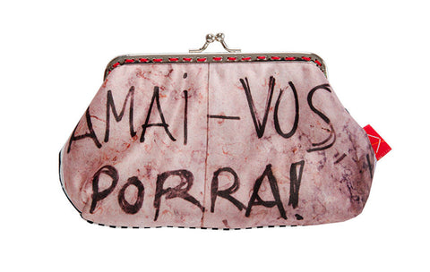 "Bainha de Rua Wallet, Purse & Shoulder Bag ""Amai-vos Porra!"""