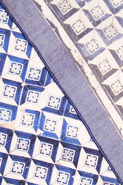 A Tale of Tiles Optical Square Scarf