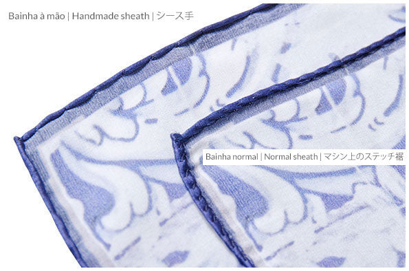 Versatile Blue-White Pocket Scarf