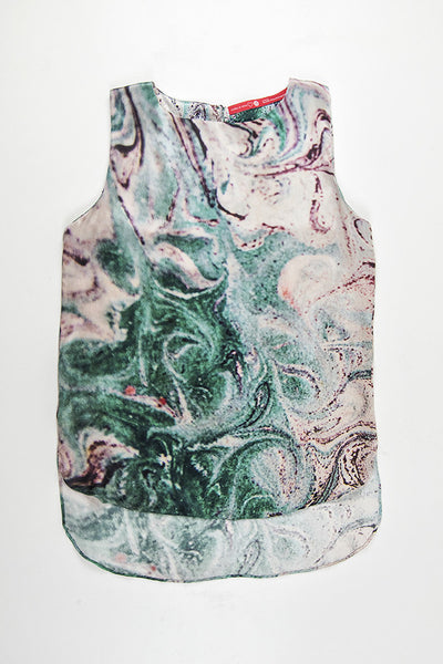 FRESS Marbled Green Blouse