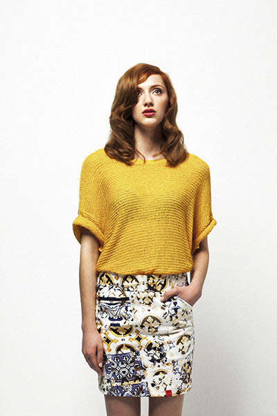 Versatile Cornfield's Yellow Short Skirt