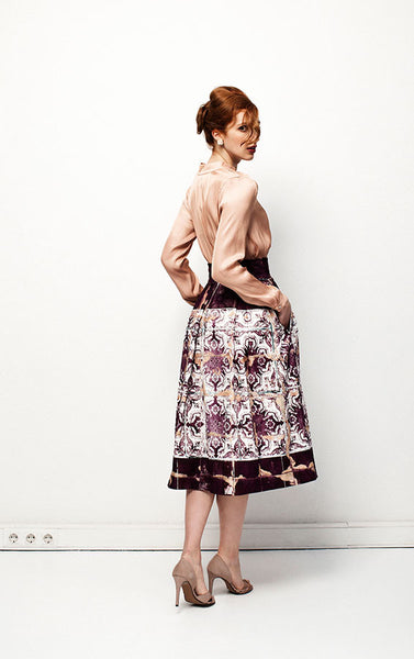Versatile Redol's Purple Pleated Skirt