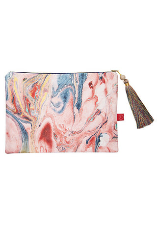 FRESS Salmon Marbled Clutch