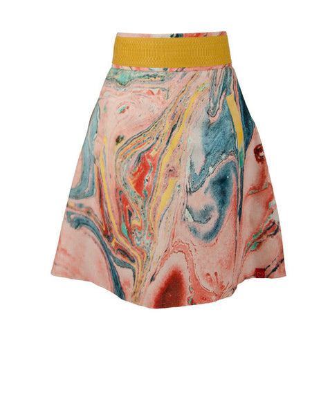 FRESS Marbled Salmon A-line Skirt