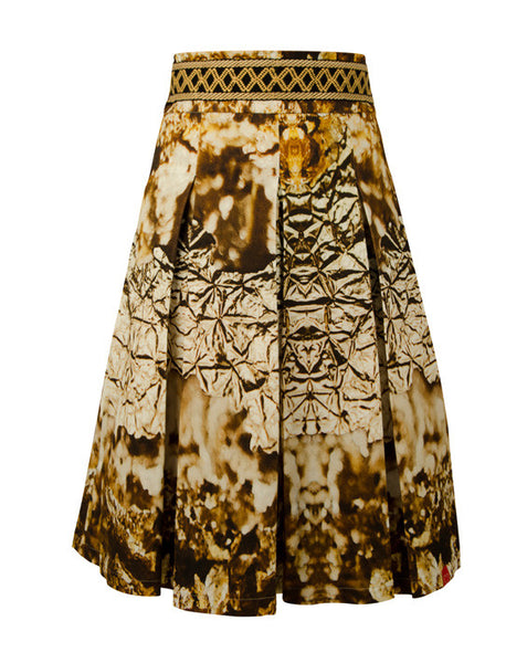 FRESS Gold Pleated Skirt