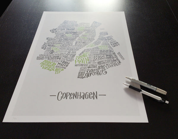 Judgemental Copenhagen, Hand-Drawn A2 Print
