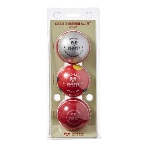 Cricket Development Ball Set - Junior or Senior