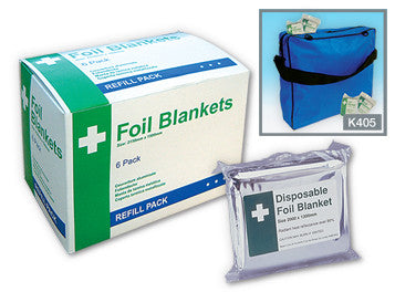 Disposable Foil Blanket (Pack of 6)