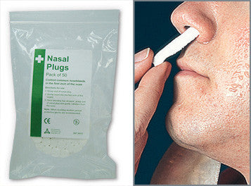 Nasal Plugs (Pack of 50)