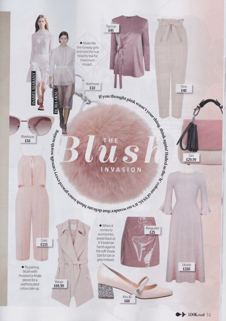 ukulele blush colette ruffle cuff dress look magazine