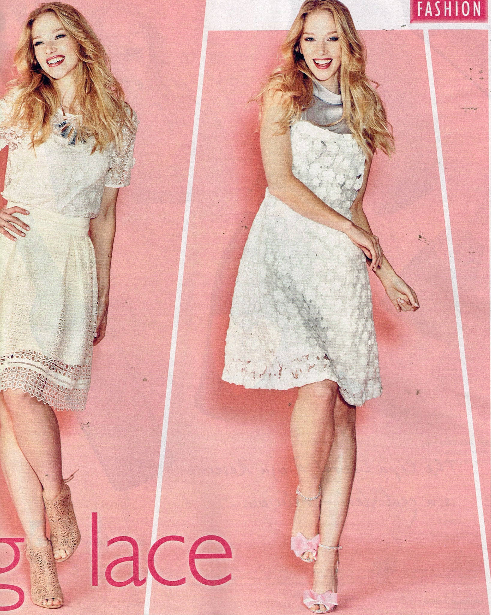 saturday magazine lace dungaree dress ukulele