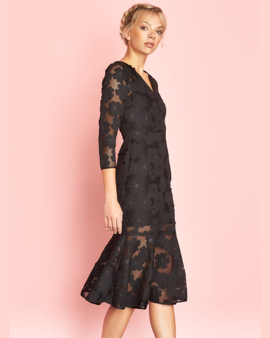 Delphine Dress Black