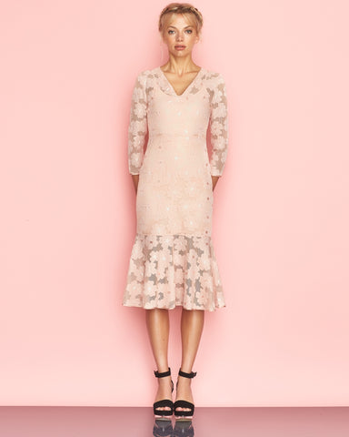 Delphine Dress Peach
