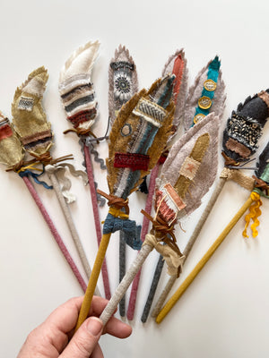 Magic Feather Wands - Neutrals