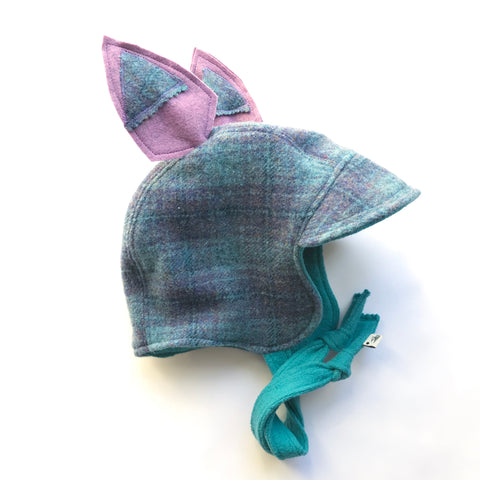 Larkspur Plaid Signature Wool Bonnet