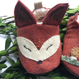 Hand Embroidered Fox Moccasins