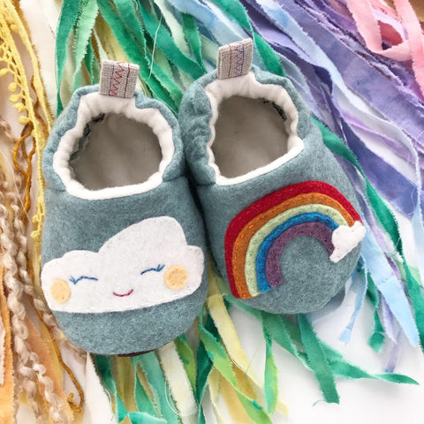 Hand Embroidered Rainbow Moccasins