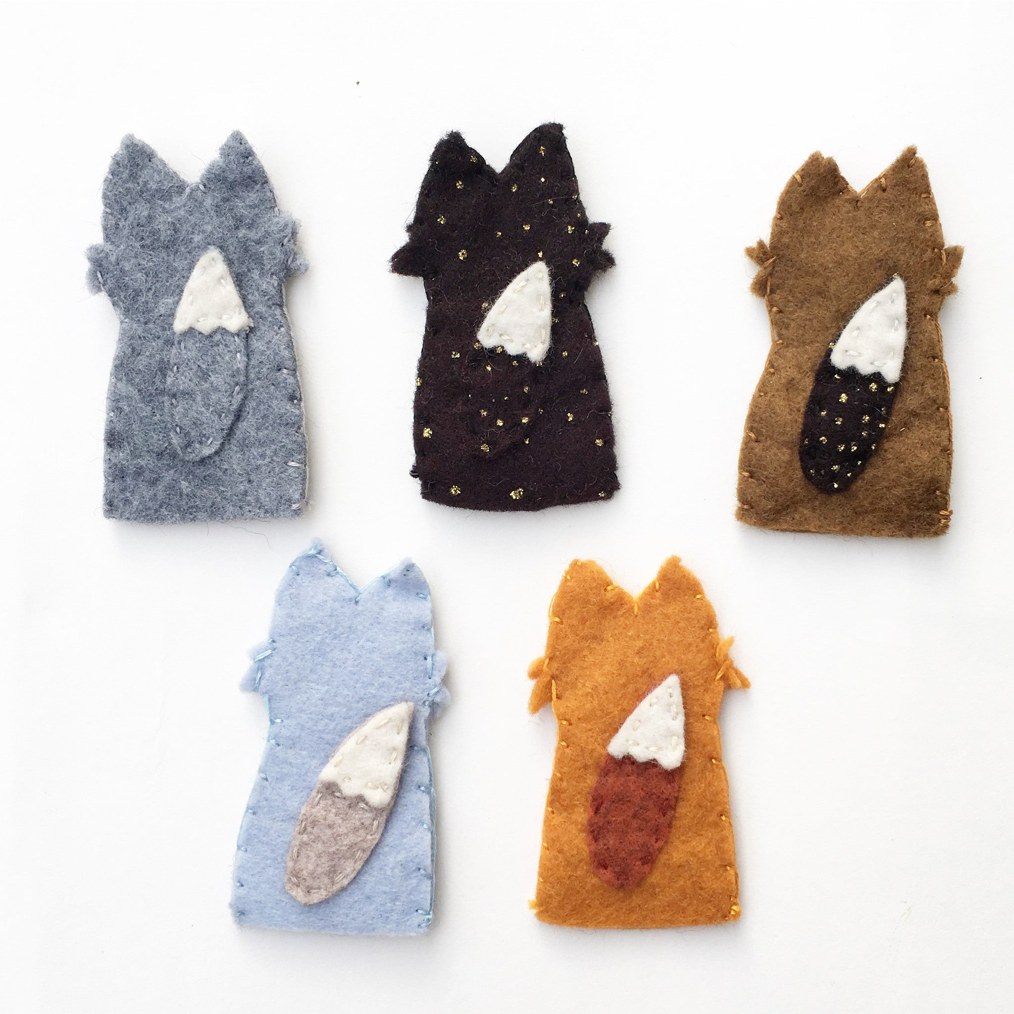 Woodland Felt Finger Puppet Set