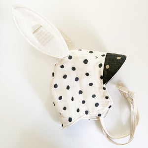 Reversible Heirloom Bonnet - Nani Iro Black & White
