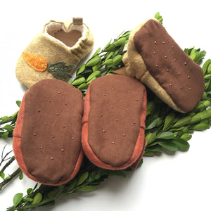 Hand Embroidered Bear Moccasins