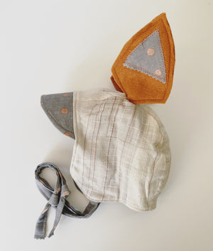 Reversible Heirloom Bonnet - Nani Iro Grey