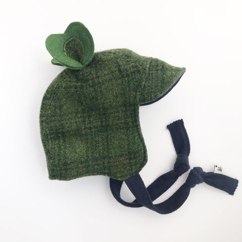 Heirloom Green Plaid Signature Wool Bonnet