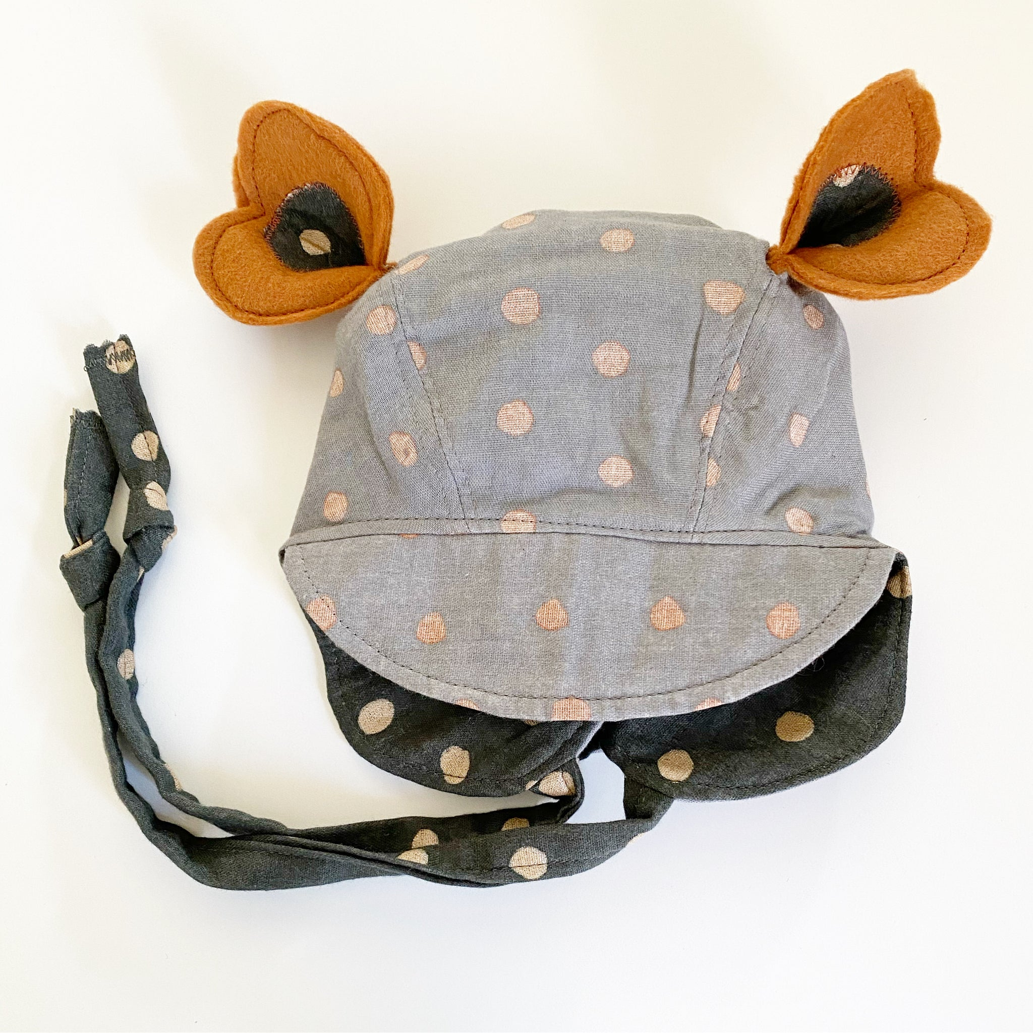 Reversible Heirloom Bonnet - Nani Iro Grey & Black