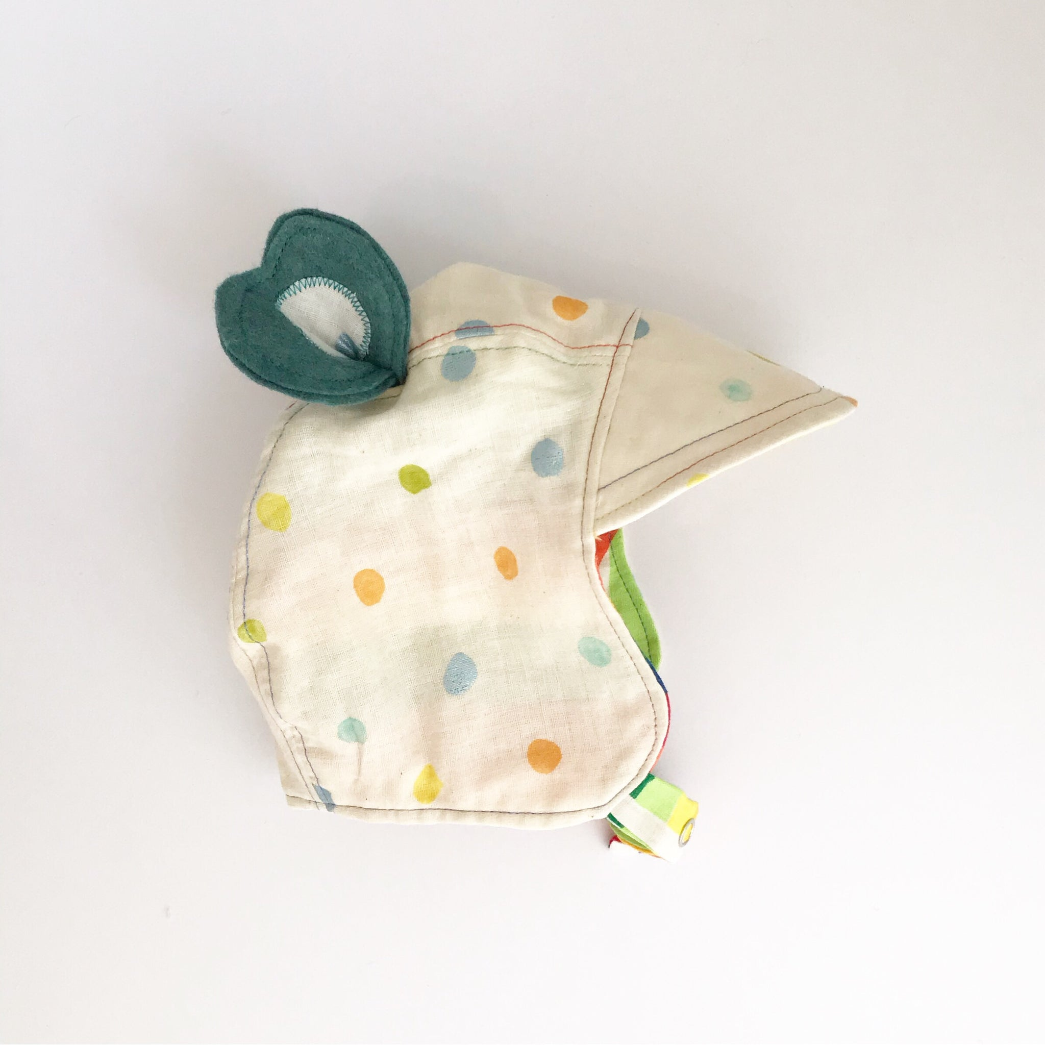 Nani Iro Rainbow Heirloom Bonnet - Bear Ears