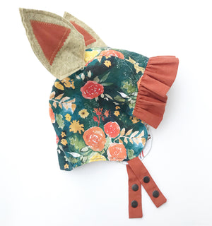 Heirloom Floral Bonnet - Organic Cotton