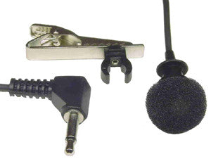 Tie clip microphone, 3.5mm plug, cable=1.1m