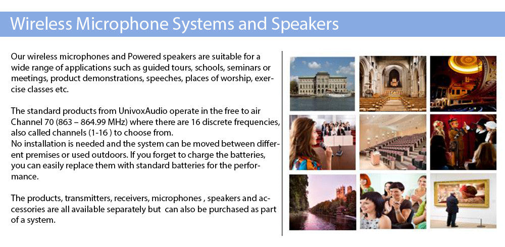 Wireless Microphone Systems and Speakers