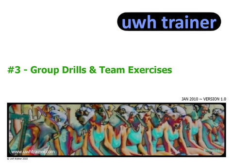 UwhTrainer 3 - Drills and Exercises - PDF download Resources - Hydro Underwater Hockey