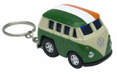 61058 Pullback Keyring  VW Bus With tricolour Roof